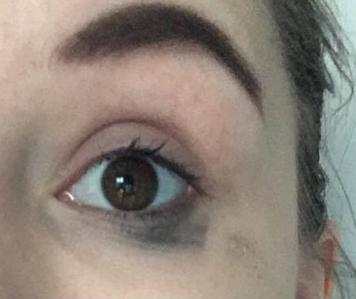 effect van de zogezegde waterproof mascara uit de Lidl van het merk Cien na het uittesten